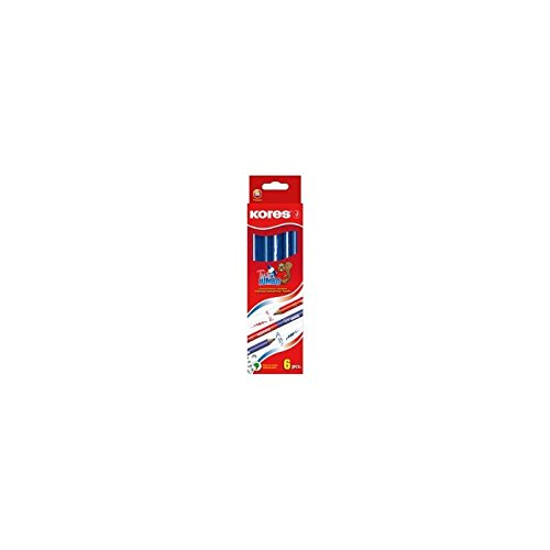Kores BB94851 Dreikant-Lehrerbuntstift TWIN Jumbo, blau/rot