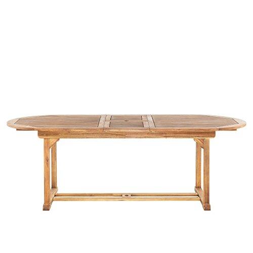 Beliani Table de Jardin Ovale en Bois avec rallonges Java