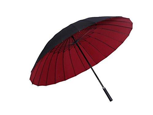 LYYUMBRELLAS ZHDC® Parapluie Double, Grand Parapluie Automatique Double Long Manche Parapluie Homme Femme Commerce Parapluie Parasol (Couleur : Rouge)
