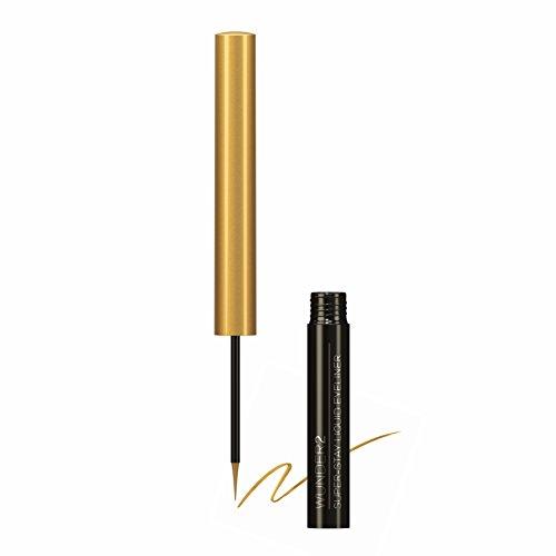 Wunder2 SUPER-STAY Liquid Eyeliner -  Flüssiger Eyeliner Wasserfest, abriebfest und bis zu 24 Stunden haltbar, Farbe: Gold Mine