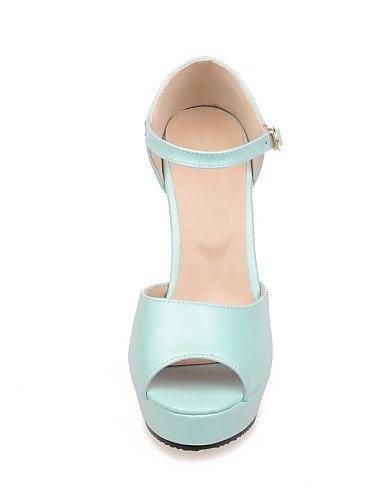 LFNLYX Scarpe Donna-Sandali-Casual-Tacchi / Spuntate-Quadrato-Finta pelle-Blu / Rosa / Bianco Pink