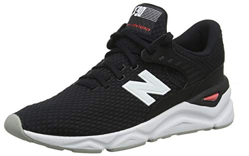 New Balance Herren X-90 Sneaker, Schwarz (Black/Energy Red Bk), 45.5 EU