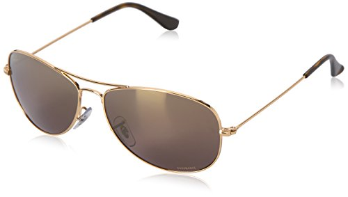 Ray-Ban Herren Sonnenbrille Rb 3562 Shiny Gold/Brownpolarmirrorgold, 59
