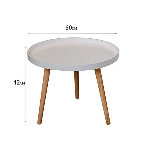 Home warehouse Kaffee-Tee-Tabelle, Sofa-seitliche Ende-Tabelle imprägniern Feste hölzerne Bein-Beleg-Sofa-Eckregale für Familie, Studyoffice,Weiß,XL -