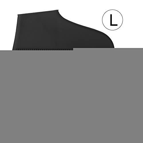 Bicaquu Silikon Wasserdicht Regenfest Schuhabdeckungen Stiefel rutschfest Abriebfest Recycelbar(06-黑色) -