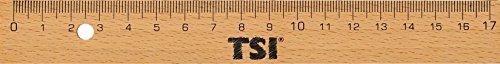 TSI 46217 Lineal aus Holz mit Metallkante, 17 cm