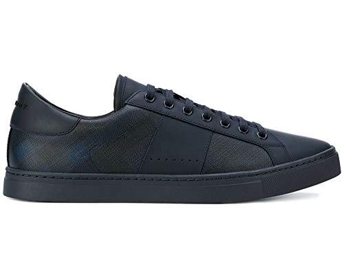 BURBERRY , Herren Sneaker Blau Marineblau, Blau - Marineblau - Größe: 43 EU