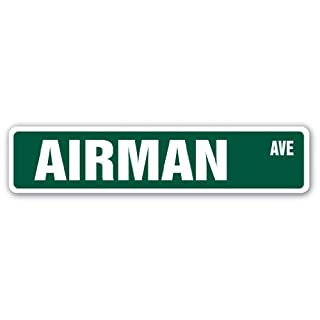SignMission Airman Street-Kinder, die Namen Raum Schild | | 45,7cm Breit