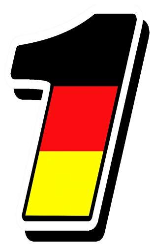 Biomar Labs Startnummer Nummern Auto Moto Vinyl Aufkleber Deutschland Germany Flagge Sticker Motorrad Motocross Motorsport Racing Nummer Tuning 1, N 251