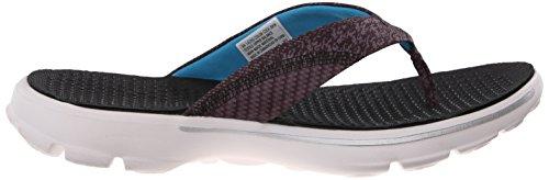 Skechers Go Walk Nestle, Sandales Plateforme femme Black/Multi/White