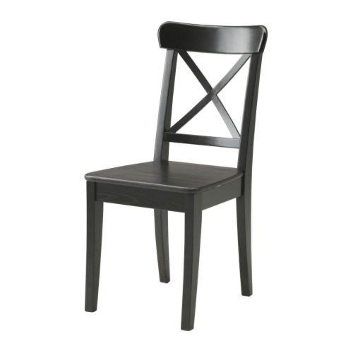 IKEA-INGOLF-silla-marrn-Black