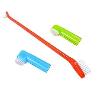 Household Pet Finger Toothbrush Cat Dog Teeth Cleaning Brush