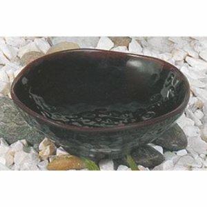 Thunder Group Tenmoku Collection Reisschüssel, 284 ml, Melamin, Schwarz, 12 Stück Wave Rice Bowl