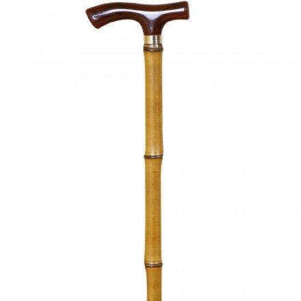 Bamboo Walking Cane with Plastic Beech Fritz Handle by Garcia