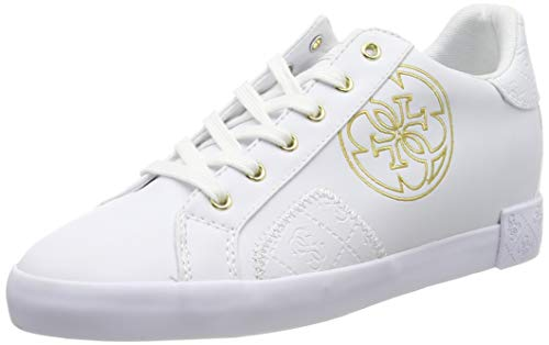 Guess PICA/Active Lady/Leather Like, Sneaker Donna, Bianco White, 36 EU