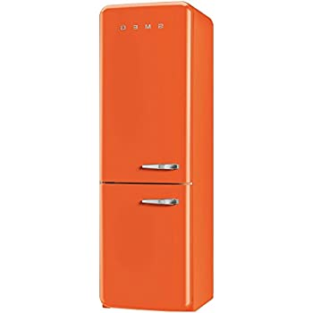 smeg k hl gefrierkombination fab32lon1 orange linkssanschlag a no frost elektro. Black Bedroom Furniture Sets. Home Design Ideas