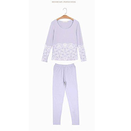 CHUNHUA Mme stretch Slim creux pantalons à manches longues pyjama Survêtement (couleur en option) , purple , xl (165/88a) Purple