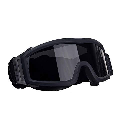 FOCUHUNTER Augenschutz - Anti Fog Sportbrillen für Herren Kratzfest Radsportbrillen, Einstellbar, UV400 Schutz Schutzbrille zum Radfahren zum Radfahren, Schießen und Golf (Schwarz)