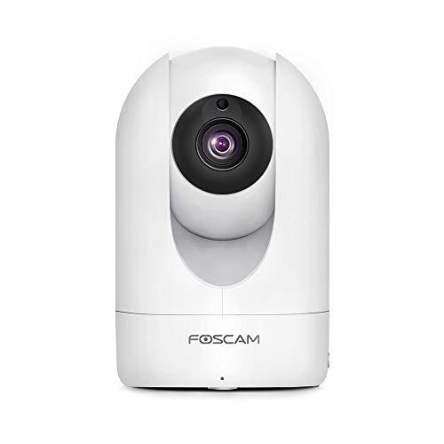 Oferta de Foscam - Cámara IP WiFi HD R2 para la vigilancia de Interiores con Sensor de Movimiento y visión Nocturna, Compatible con iOS y Android. (P2P, PTZ, 1080P, Onvif, Ranura Micro SD)