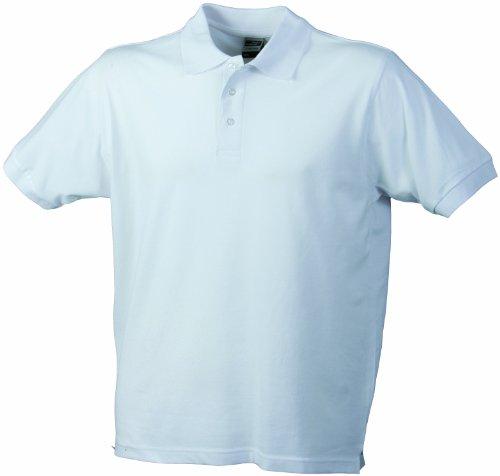 James & Nicholson Herren Poloshirt Weiß (weiß white)