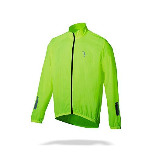 BBB Cycling Fahrrad Regenjacke BBW-148 für Damen, Herren, Kinder, neon yellow, XL, Bike Rainjacket
