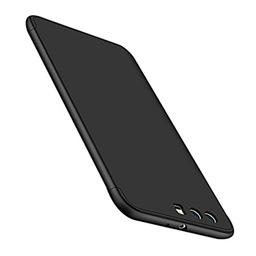 "Huawei P10 Cover, Custodia Huawei P10 360 Gradi Ultra Sottile Cassa 3 in 1 Duro PC Case Rigido Elegante Shock-Absorption e Custodia per Huawei P10/P10 Plus (Huawei P10 Plus 5.5"", Nero)"