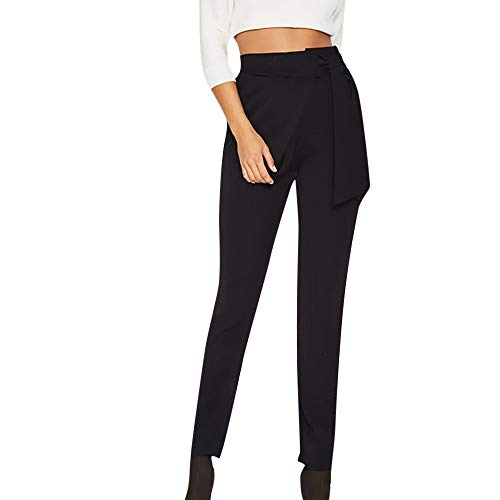Pantalones harén para Mujer Otoño Invierno 2018 Moda PAOLIAN Casual  Pantalones Leggings Vestir Cintura Alta Señora 4d2af92e1bf4