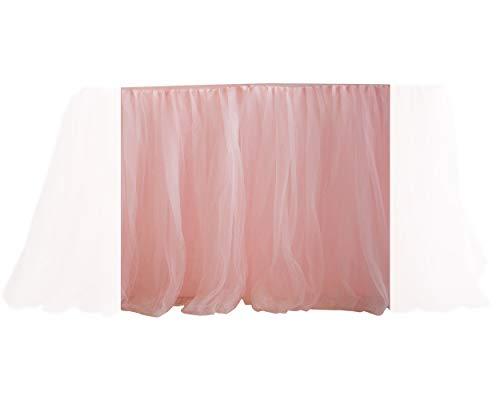 DSstyles 100cm X 80cm Tovaglia Tovaglia Gonna Tavolo Copertura per la Decorazione della Festa Nuziale (Rosa)