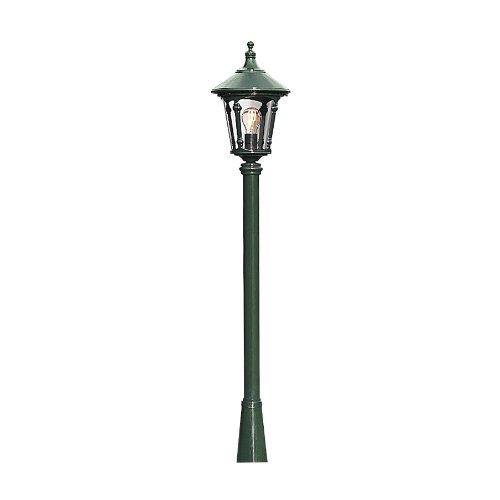 100w Kandelaber (Konstsmide Virgo 578-600 Kopf für Sockel-/Wege-/Standleuchte / B: 24cm T: 24cm H: 35cm / 1x100W / IP23 / lack. Aluminium / grün)