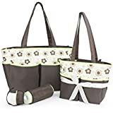Colorland Top Selling 5pcs Family Set Foldable Baby Nappy Bag Stylish Mommy Tote Bag Set With Changing Mat