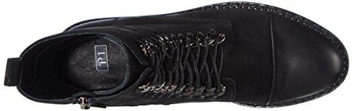 P1 Montreal Damen Combat Boots Schwarz (nero)