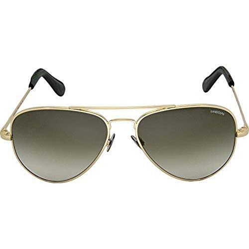 Randolph CR71401-NY Herren-Goldrahmen Grün Objektiv Aviator Sonnenbrillen