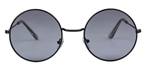 WSKPE Sonnenbrille Frauen Bunte Runde Sonnenbrille Kreis Rosa Linse Klein Sonnenbrille Tönung Schattierungen (Graue Linse)