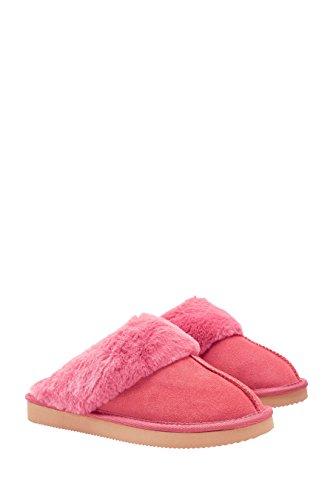 next Donna Pantofole Scamosciate Vestibilità Regular Corallo