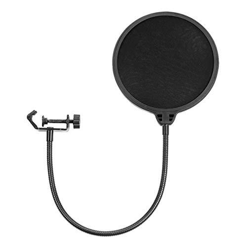 LoveOlvido Filtro Pop per Microfono Yeti, Accessorio per Parti PRO Audio, prevenzione 1 pz, antispruzzo, Rete, Anti-Acqua - Nero