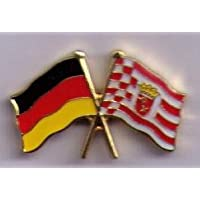 Doppelflaggenpin Deutschland-Bremen Freundschaftspin 23 mm Yantec Pin