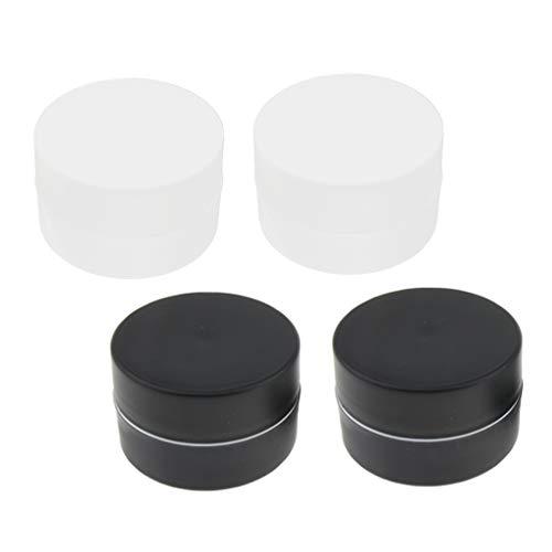 B Baosity Set 4x Flacons maquillage Bouteille Ronde Trousses de toilettes