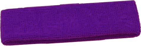 Terry Cloth Headband Various Colors Sweatband (Purple)