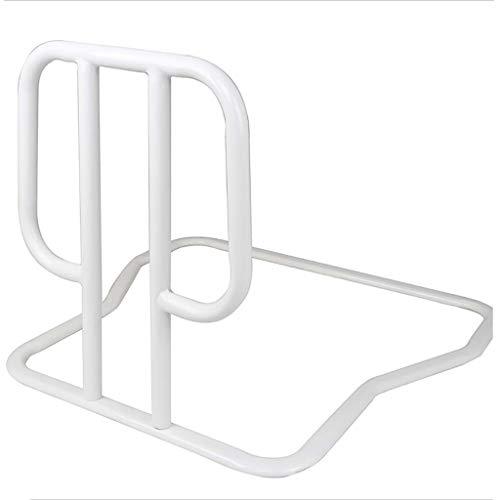 LXLX Handlauf, altes Bett, Aufstehhilfe, Bettleitplanke für Erwachsene, Hebel aufstehen, Bettgeländer aus weißem Metall