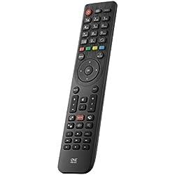 Telecomando sostitutivo per TV TELEFUNKEN di One For All - Funziona con TUTTI i televisori Telefunken - Il telecomando sostitutivo ideale - nero -URC1918