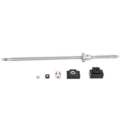 SFU1605 Tornillo de Bola de Acero Inoxidable de 600 mm Con Soporte de Tuerca BK12 / BF12 Y Juego de Acopladores de 6,35X10 mm Piezas CNC