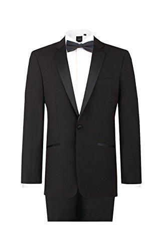 fallendes revers Dobell Herren Schwarzer Smoking-Anzug zweiteilig Fallendes Revers (50 Jackett mit 50 Hosen)