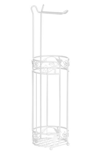 Premier Housewares Porta Rotolo di Carta Igienica Paradise in Metallo Bianco