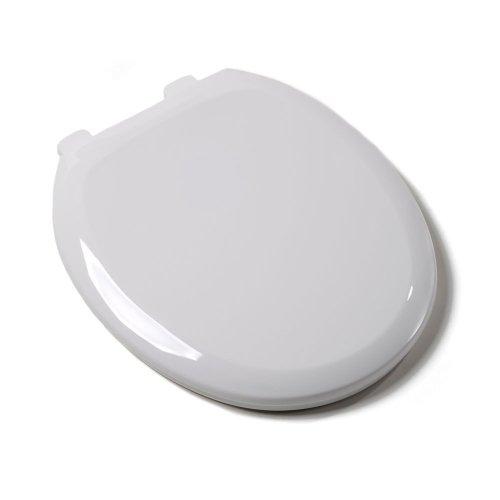 Comfort Seats C160600 Premium Plastic Toilet Seat, Round, White by Comfort Seats