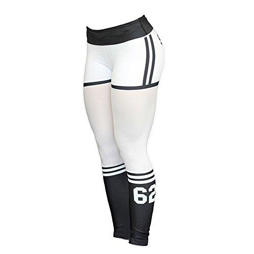 TianWlio Leggings Damen Frauen Hohe Taillen Yoga Fitness Leggings die Turnhose Stretch Sport Hosen Hose Läuft Weiß S