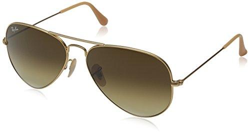 Ray-Ban Classic Aviator Sunglasses Gold Brown Gradient 58 Brown Gradient