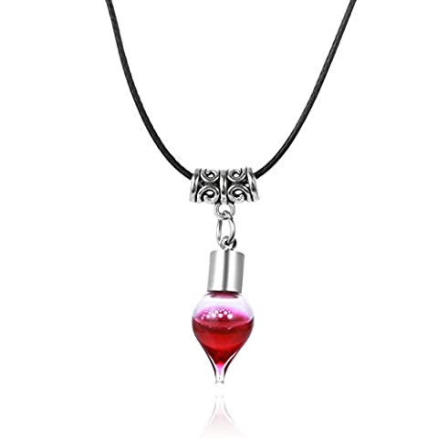 Beydodo Gothic Choker with Plasma Bottle Pendant Necklace Halloween Party Bloody Jewellery for