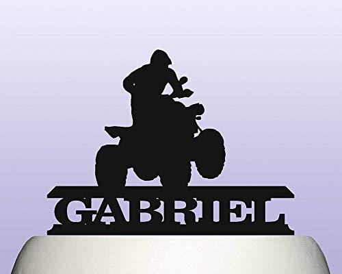 Andrea1Oliver Personalisierte Acryl Motocross Quad ATV Gel?ndewagen Cake Topper -