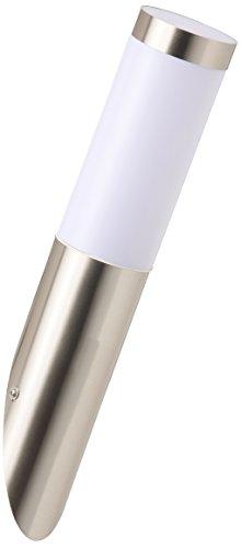 Brilliant Adonia Außenwandleuchte, E27 LED, 1x 3 W, 250lm, 3000K, Kunststoff, edelstahl G96228/82