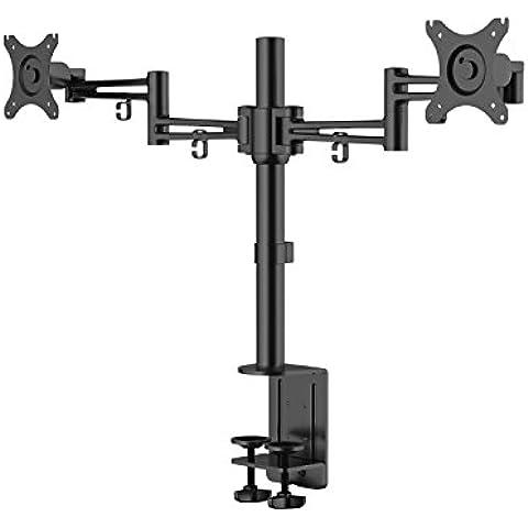 eSmart Germany TV/Monitor Doppio braccio supporto da tavolo | 25cm–64cm